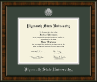 Plymouth State University Diploma Frame - Silver Engraved Medallion Diploma Frame in Brentwood