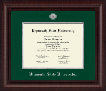 Plymouth State University Diploma Frame - Presidential Silver Engraved Diploma Frame in Premier