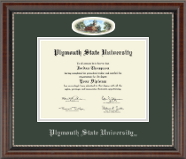 Plymouth State University Diploma Frame - Campus Cameo Diploma Frame in Chateau