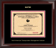 North American Transportation Management Inst Certificate Frame - Gold Embossed Certificate Frame in Encore