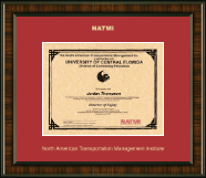 North American Transportation Management Inst Certificate Frame - Gold Embossed Certificate Frame in Brentwood