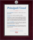 National Association Elementary School Principals Certificate Frame - Century Silver Engraved Certificate Frame in Cordova