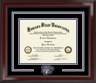 Kansas State University Diploma Frame - Spirit Medallion Diploma Frame in Encore