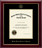 The United States Court of Appeals Certificate Frame - Gold Embossed Certificate Frame in Gallery