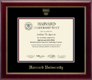 Harvard University Certificate Frame - Gold Embossed Certificate Frame in Gallery