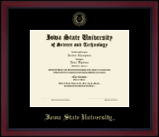 Iowa State University Diploma Frame - Achievement Edition Gold Embossed Diploma Frame in Academy