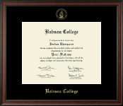 Babson College Diploma Frame - Gold Embossed Diploma Frame in Studio