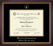 Western Connecticut State University Diploma Frame - Gold Embossed Diploma Frame in Regency Gold