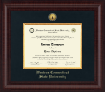 Western Connecticut State University Diploma Frame - Presidential Gold Engraved Diploma Frame in Premier