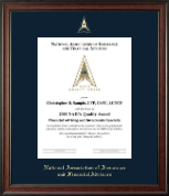 National Association of Insurance and Financial Advisors Certificate Frame - Gold Embossed Certificate Frame in Studio