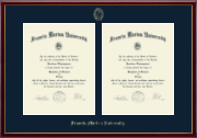 Francis Marion University Diploma Frame - Double Document Diploma Frame in Galleria