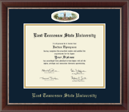 East Tennessee  State University Diploma Frame - Campus Cameo Diploma Frame in Chateau