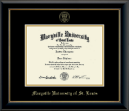 Maryville University of St. Louis Diploma Frame - Gold Embossed Diploma Frame in Onyx Gold