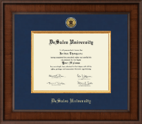 DeSales University Diploma Frame - Presidential Gold Engraved Diploma Frame in Madison