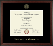 University of Minnesota Twin Cities Diploma Frame - Gold Embossed Diploma Frame in Studio