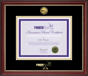 Power Pilates Certificate Frame - Gold Engraved Medallion Certificate Frame in Kensington Gold