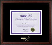 Power Pilates Certificate Frame - Gold Embossed Certificate Frame in Studio