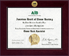 American Association of Tissue Banks Certificate Frame - Century Gold Engraved Certificate Frame in Cordova