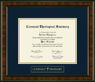 Covenant Theological Seminary Diploma Frame - Gold Embossed Diploma Frame in Brentwood