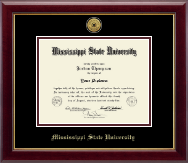 Mississippi State University Diploma Frame - Gold Engraved Medallion Diploma Frame in Gallery