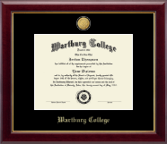 Wartburg College Diploma Frame - 23K Medallion Diploma Frame in Gallery