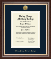 Valley Forge Military College Diploma Frame - Gold Engraved Medallion Diploma Frame in Hampshire