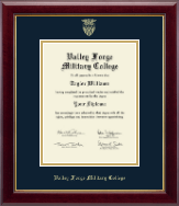 Valley Forge Military College Diploma Frame - Gold Embossed Diploma Frame in Gallery
