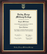 Valley Forge Military College Diploma Frame - Gold Embossed Diploma Frame in Regency Gold