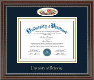 University of Delaware Diploma Frame - Campus Cameo Diploma Frame in Chateau