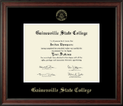 Gainesville State College Diploma Frame - Gold Embossed Diploma Frame in Studio