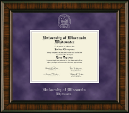 University of Wisconsin Whitewater Diploma Frame - Silver Embossed Diploma Frame in Brentwood