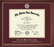 Florida State University Diploma Frame - Masterpiece Medallion Diploma Frame in Kensington Gold