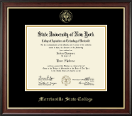 Morrisville State College Diploma Frame - Gold Embossed Diploma Frame in Studio Gold