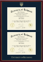 University of Richmond Diploma Frame - Double Document Diploma Frame in Galleria
