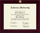 Anderson University in South Carolina Diploma Frame - Century Gold Engraved Diploma Frame in Cordova