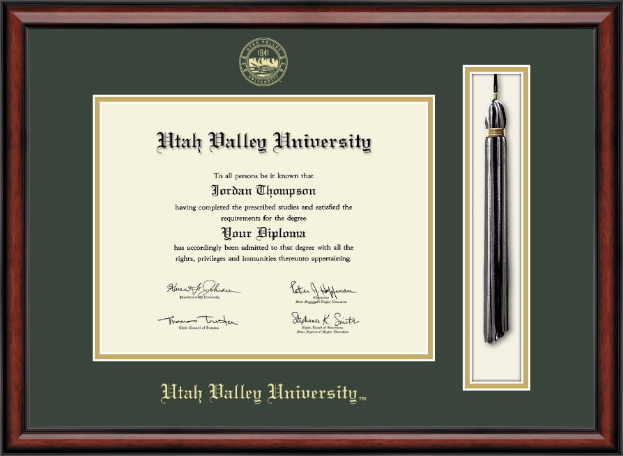 Utah Valley University Tassel Edition Diploma Frame In Southport