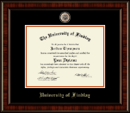 The University of Findlay Diploma Frame - Brass Masterpiece Medallion Diploma Frame in Ridgewood