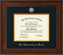 The University of Iowa Diploma Frame - Presidential Masterpiece Diploma Frame in Madison