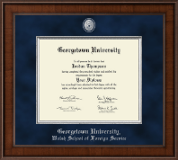 Georgetown University Diploma Frame - Presidential Pewter Masterpiece Diploma Frame in Madison