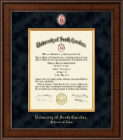 University of South Carolina School of Law Diploma Frame - Presidential Masterpiece Diploma Frame in Madison