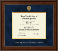 John Jay College of Criminal Justice Diploma Frame - Presidential Gold Engraved Diploma Frame in Madison