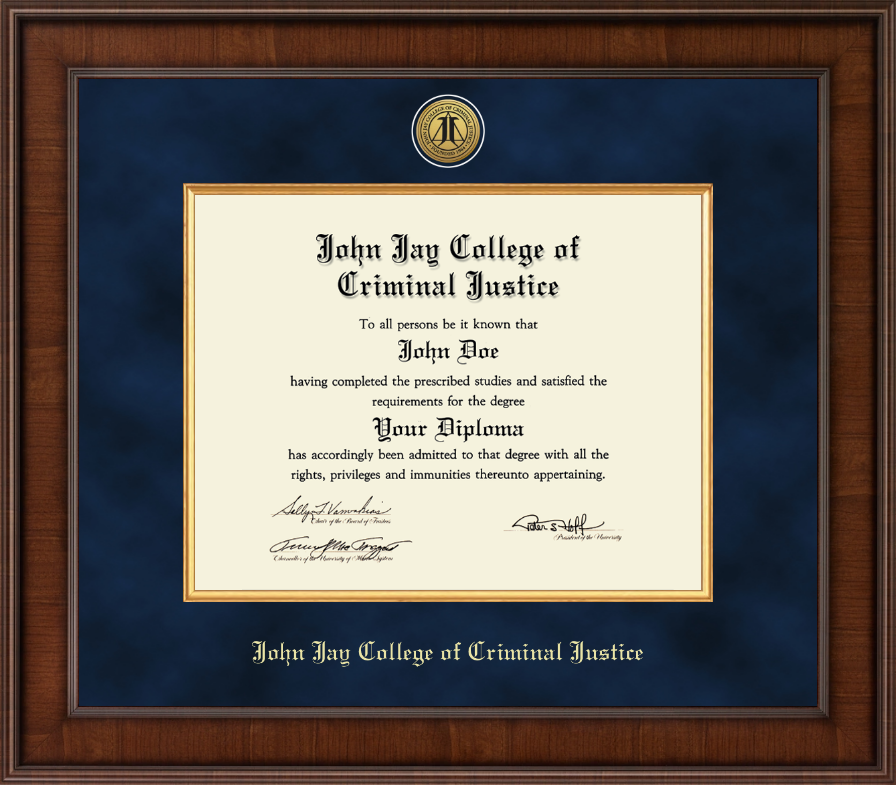john jay college of criminal justice diploma frame presidential gold engraved diploma frame in madison