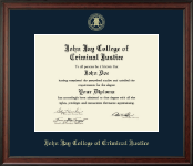 John Jay College of Criminal Justice Diploma Frame - Gold Embossed Diploma Frame in Studio