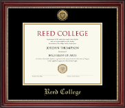 Reed College Diploma Frame - Gold Engraved Medallion Diploma Frame in Kensington Gold