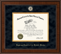 Supreme Court of the United States Certificate Frame - Presidential Black Enameled Masterpiece Certificate Frame in Madison