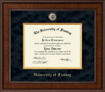 The University of Findlay Diploma Frame - Presidential Brass Masterpiece Diploma Frame in Madison