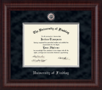 The University of Findlay Diploma Frame - Presidential Pewter Masterpiece Diploma Frame in Premier