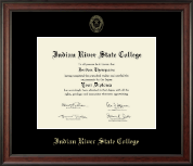 Indian River State College Diploma Frame - Gold Embossed Diploma Frame in Studio
