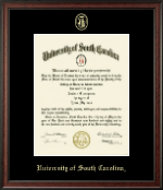 University of South Carolina Diploma Frame - Gold Embossed Diploma Frame in Studio