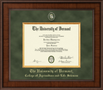 The University of Vermont Diploma Frame - Presidential Masterpiece Diploma Frame in Madison
